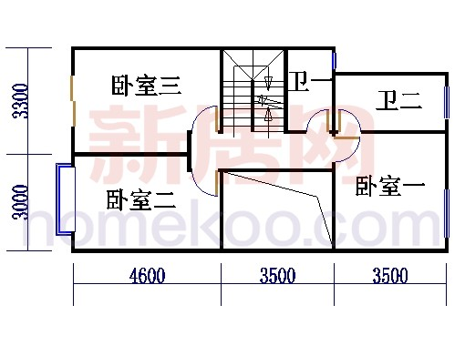 CII型别墅二层