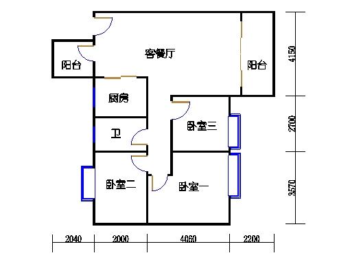 7号楼4-9层3号01单元