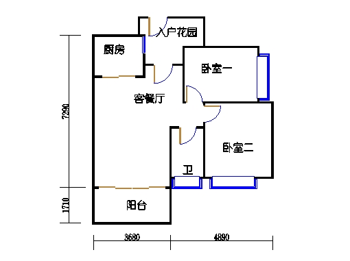 7号楼10层1号04单元