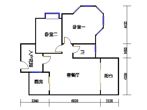 7号楼2层1号04单元