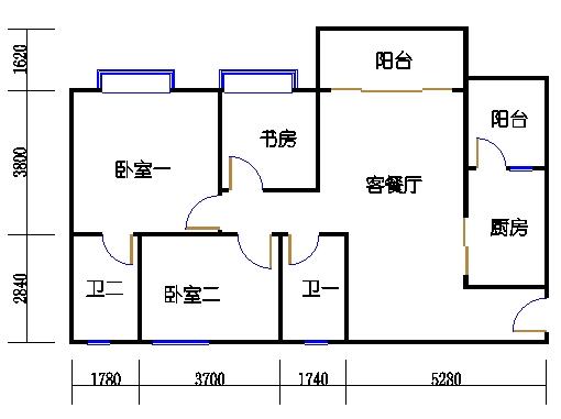 1号楼3层1号02单元