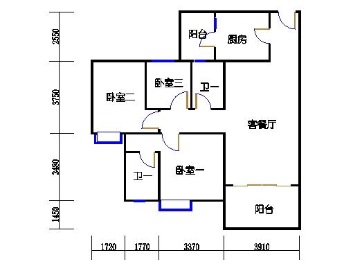 1号楼3层1号03单元