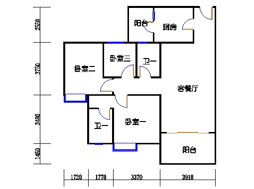 1号楼3层2号03单元