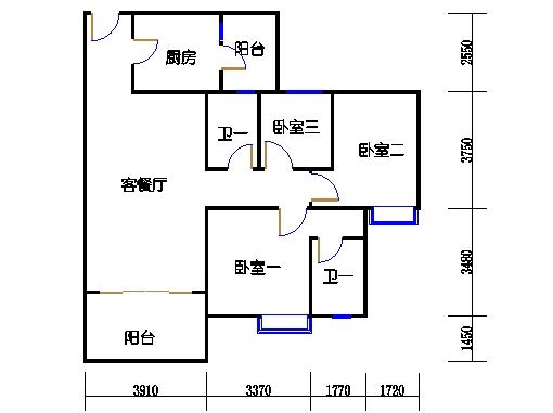 1号楼3层3号04单元