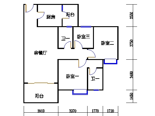 1号楼3层8号04单元