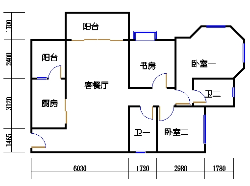 1号楼4层1号01单元