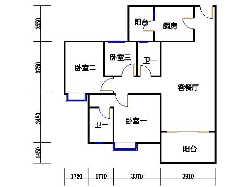 1号楼4层1号03单元