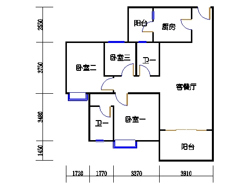 1号楼4层2号03单元