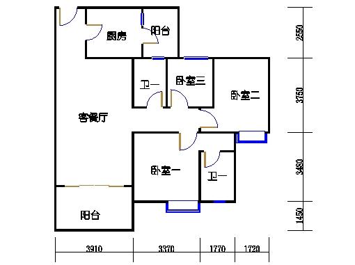 1号楼4层2号04单元