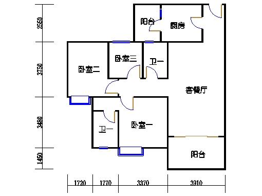 1号楼4层6号03单元