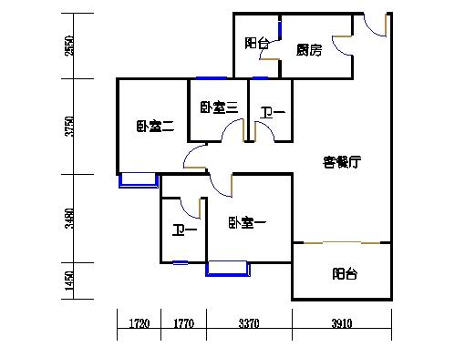 1号楼5层2号03单元
