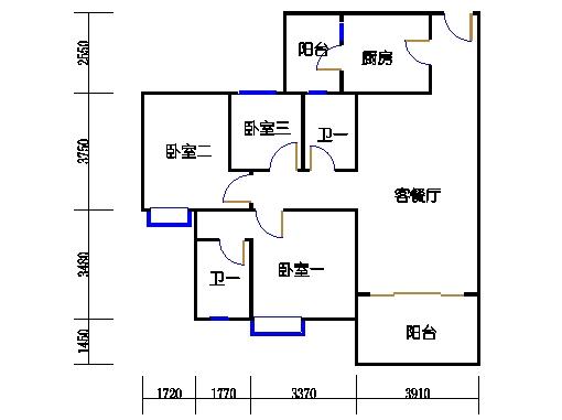 1号楼5层3号03单元