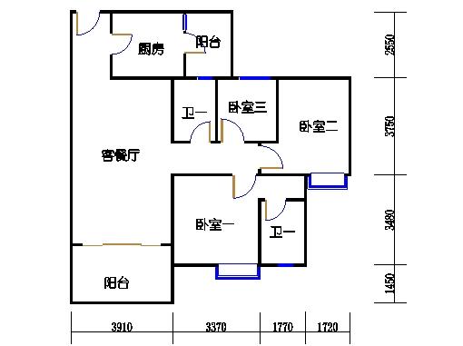 1号楼5层3号04单元