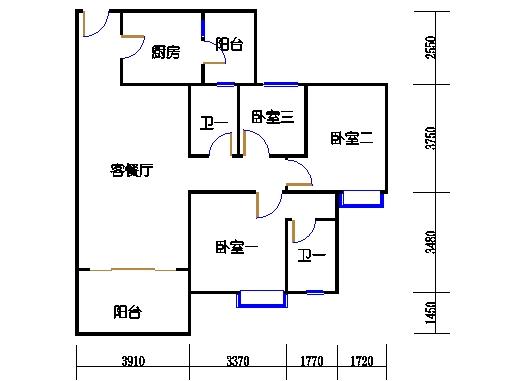 1号楼6层6号04单元
