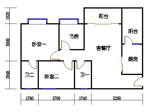1号楼1层1号02单元