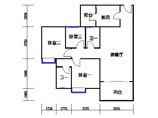 1号楼1层3号03单元