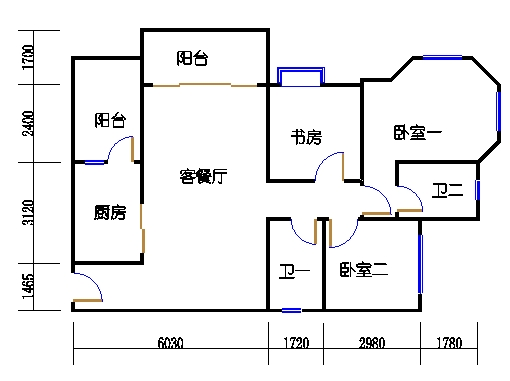 1号楼2层1号01单元