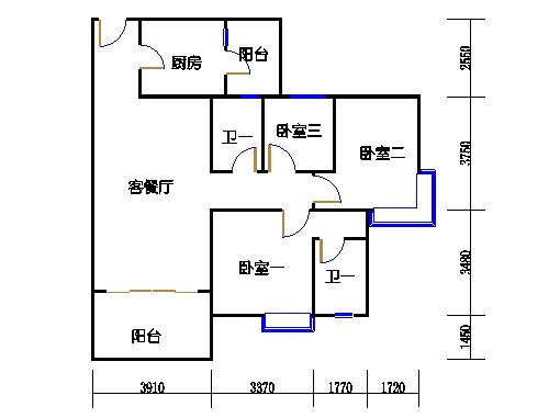 1号楼2层1号04单元