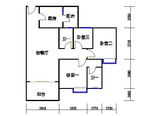 1号楼2层2号04单元
