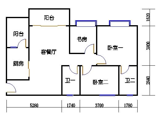 1号楼2层3号01单元