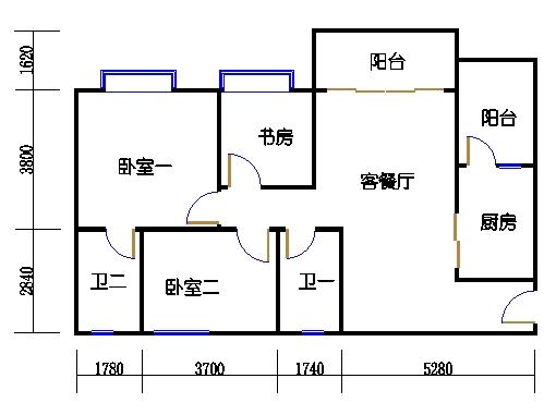 1号楼2层3号02单元