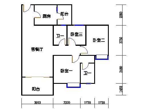 1号楼2层3号04单元