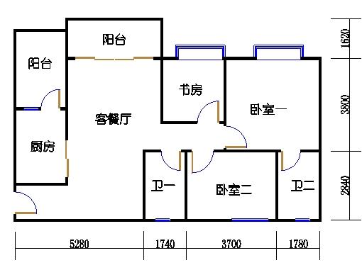 1号楼2层6号01单元