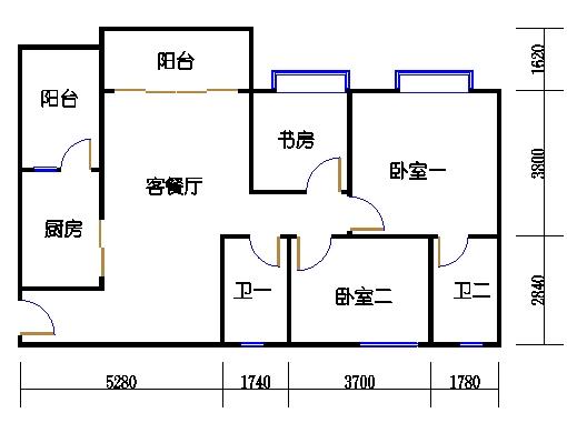1号楼2层8号01单元