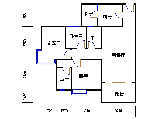 1号楼2层8号03单元