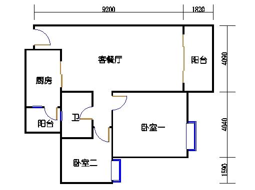 2号楼3.4层11号03单元