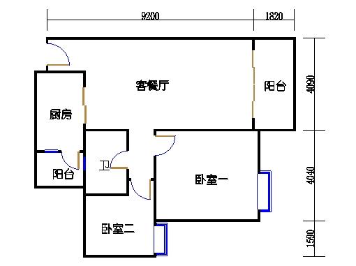 2号楼3.4层12号03单元