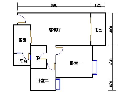 2号楼1层12号03单元