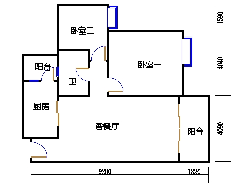 2号楼1层16号04单元