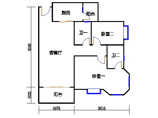 2号楼2层9号04单元