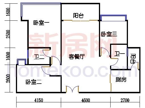 丽豪阁3-32F02单位