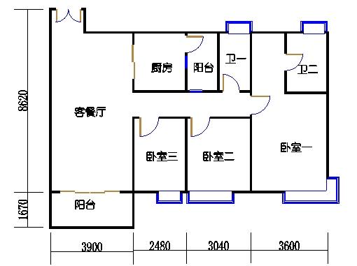 A栋2-10层01单元