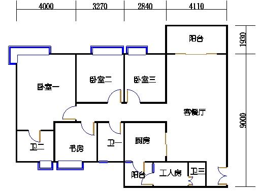 A栋2-10层03单元