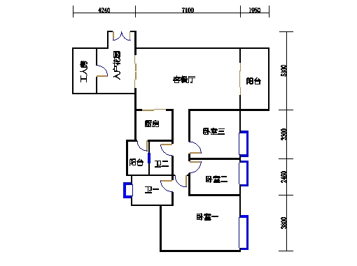 D栋2-10层02单元