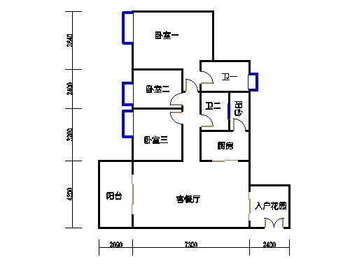 D栋2-10层04单元
