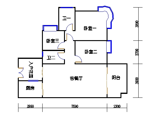 A6栋2层04单元