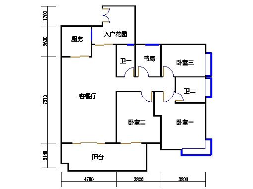 A6栋3-11层01单元