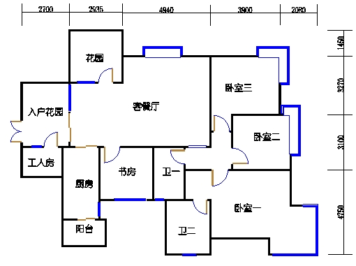A-1单元偶数层