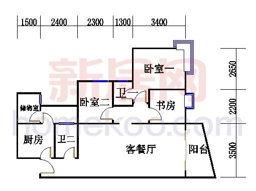 T1栋13、15层09单元