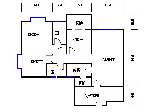 D1单元偶数层