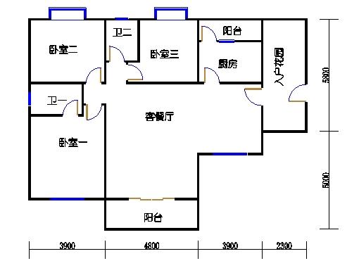 E1单元奇数层