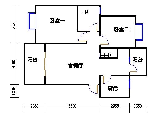 A2-1单元跃层下层