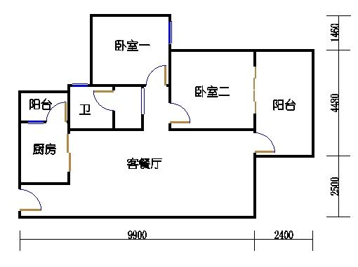 2号楼-AB座2a单元偶数层