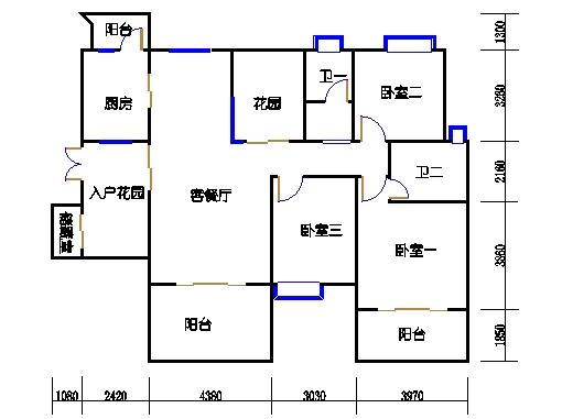 2号楼-AB座-3d-1单元偶数层