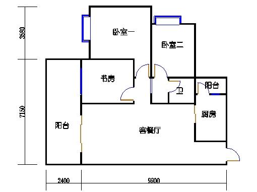 2号楼-A座-3a单元奇数层