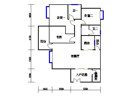 2号楼-B座-3c单元奇数层